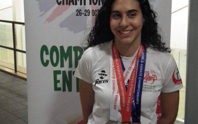 Mangualdense Joana Venâncio no 16º Campeonato Mundial de Karaté