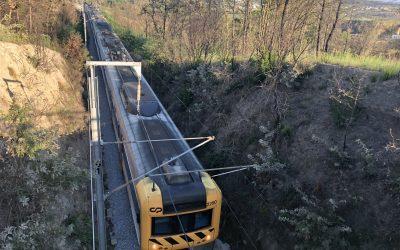 O simulacro na Estação de Caminhos de Ferro de Mangualde