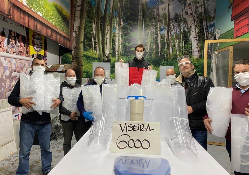 Empresa de Seia cria modelo de viseira que vai ajudar na reabertura da fábrica da PSA em Mangualde
