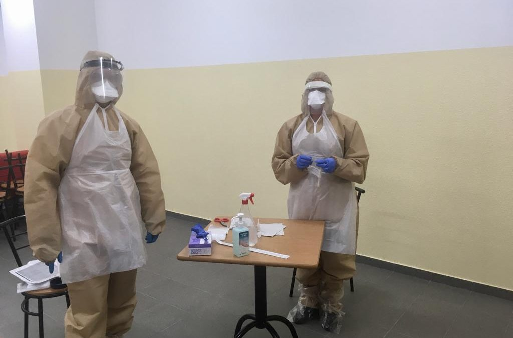 Junta de Freguesia de Mangualde, Mesquitela e Cunha Alta adquiriu e promoveu a realização de testes Covid-19 à Corporação dos Bombeiros Voluntários de Mangualde