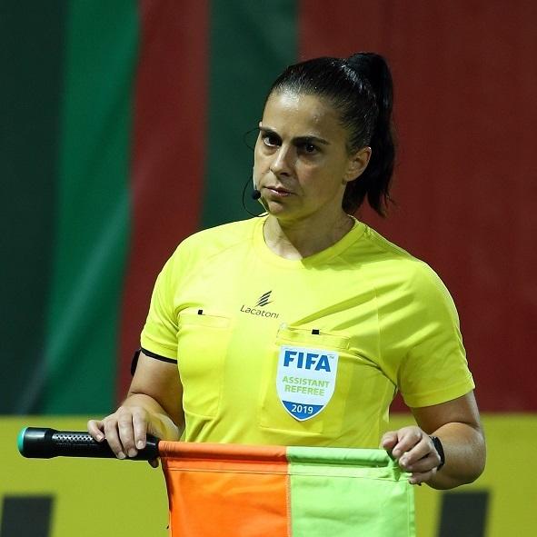 Mangualdense Olga Almeida, árbitra assistente da Segunda Liga