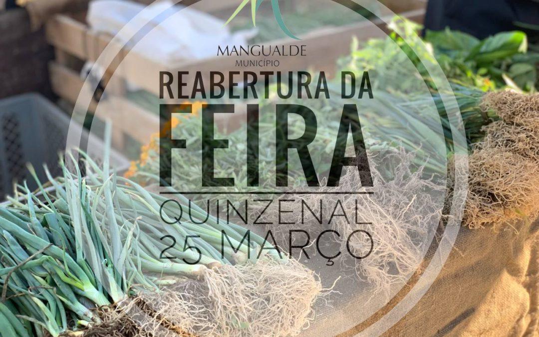 Feira Quinzenal reabre dia 25 março