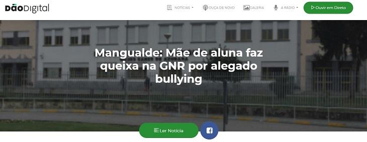 Noticia da DãoDigital Rádio – Mãe de aluna faz queixa na GNR por alegado bullying