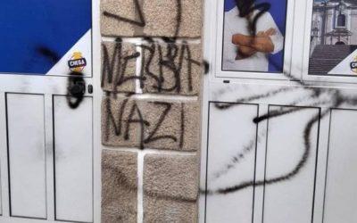 Sede do Chega vandalizada com simbolo nazi
